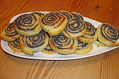 Blätterteig - Mohnschnecken mit Marzipan 3