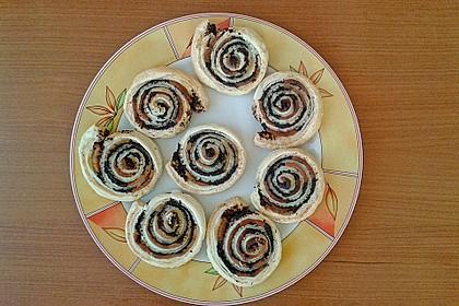 Blätterteig - Mohnschnecken mit Marzipan 21