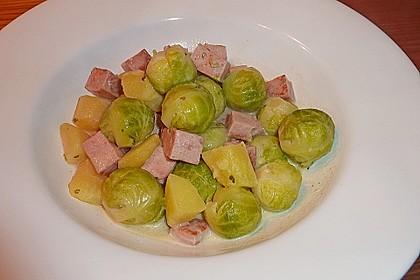 Rosenkohl - Kartoffel - Kasseler - Pfanne 1