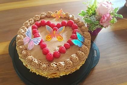 Schokoladen - Himbeertorte (Bild)