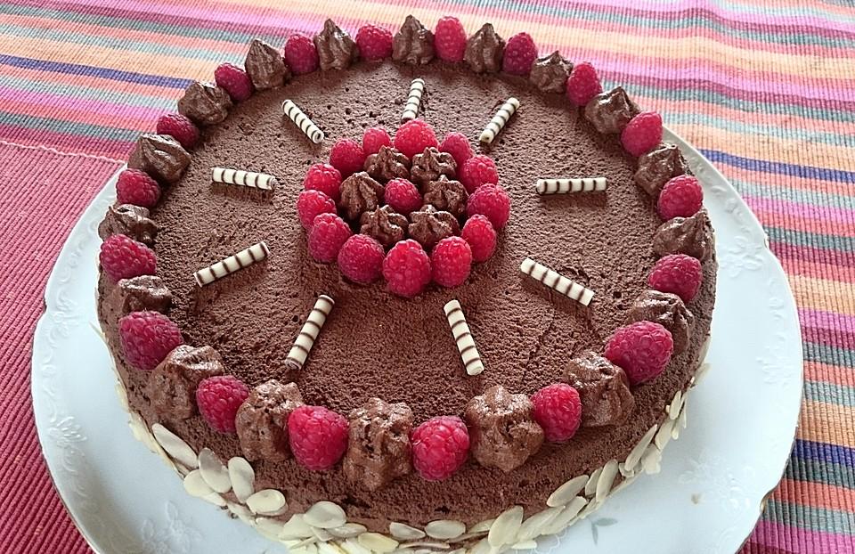 Schokoladen Himbeertorte Von Eva0804 Chefkoch De