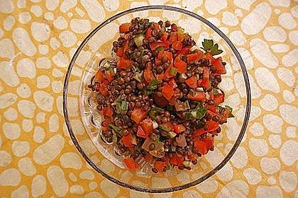 Leichter Salat aus Belugalinsen 2
