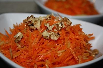 Möhren - Apfel - Salat mit Orangendressing und Walnüsse 9