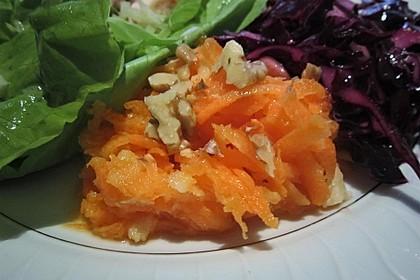 Möhren - Apfel - Salat mit Orangendressing und Walnüsse 11