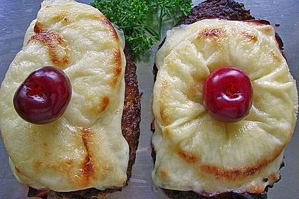 Riefkoken  mit Kochschinken und Ananas überbacken 1