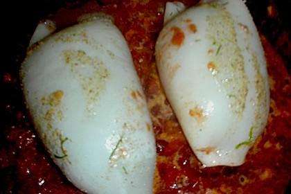Geschmorte Tintenfischtuben mit Graupen - Mangold - Füllung 4