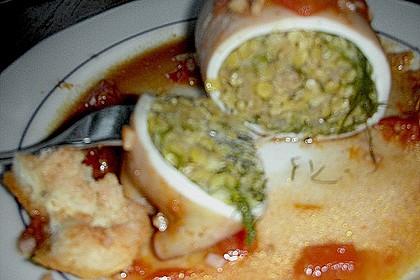 Geschmorte Tintenfischtuben mit Graupen - Mangold - Füllung 3