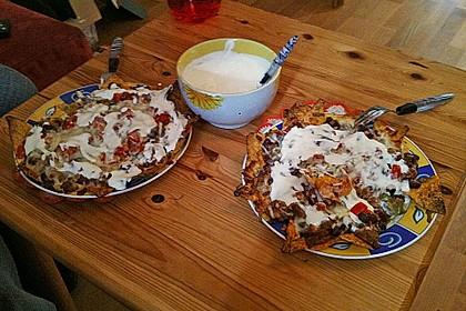 Tortillas mit Käse überbacken (Bild)
