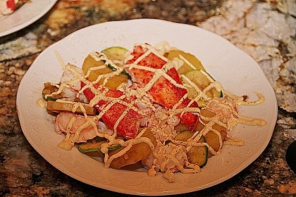 Hummer - Carpaccio mit Kartoffelsalat