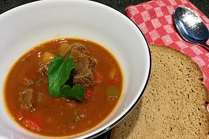 Gulasch vom Rind mit Schalotten und Paprika 4