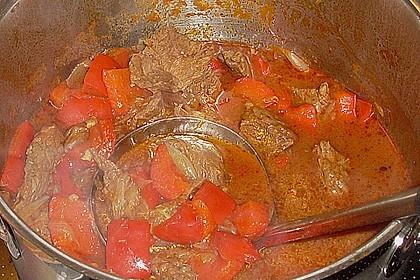 Gulasch vom Rind mit Schalotten und Paprika 31