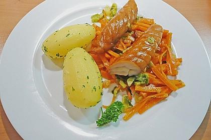 Räucherfisch auf Gemüse 1