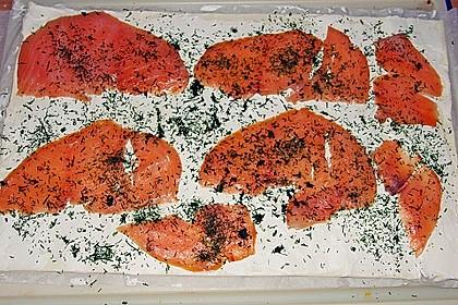 Blätterteig - Lachs - Schnecken 119
