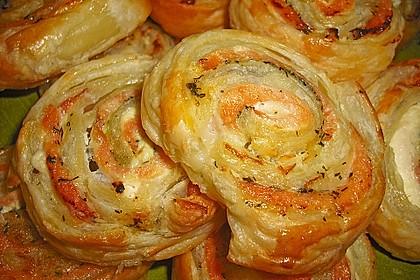 Blätterteig - Lachs - Schnecken 2