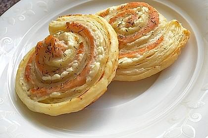 Blätterteig - Lachs - Schnecken 4