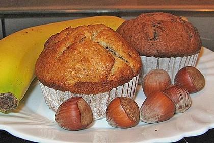 Banane - Nuss - Muffins