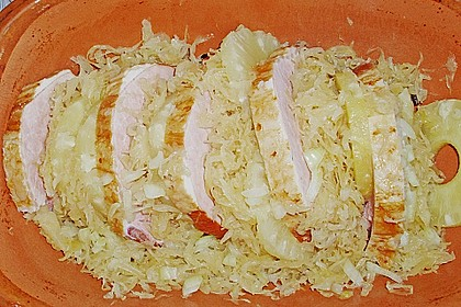 Kasseler mit Sauerkraut aus dem Römertopf 17