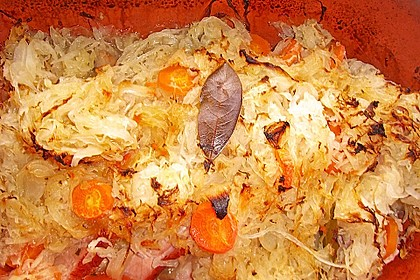 Kasseler mit Sauerkraut aus dem Römertopf 20