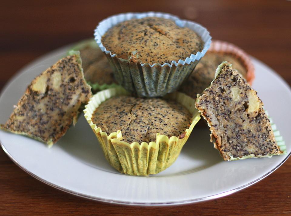 Apfel mohn muffins rezept