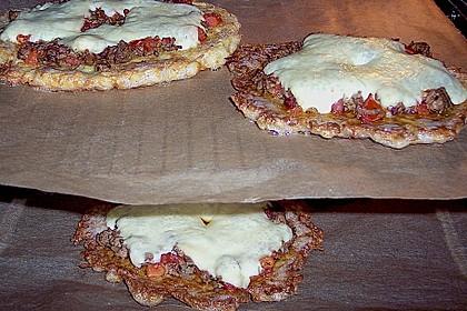 Kartoffelpuffer XXL, mit Hackfleisch und Tomate deftig gratiniert