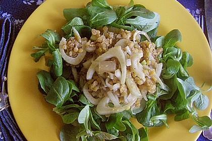 Feldsalat mit roten Linsen und Fenchel 1