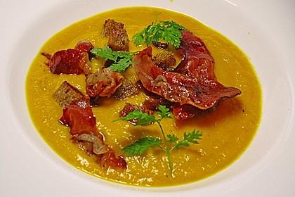 Möhren - Ingwer - Suppe mit Parmaschinken 4