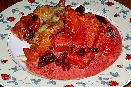 Svenjas Rote Bete-Süßkartoffel Gratin mit Ingwer 5