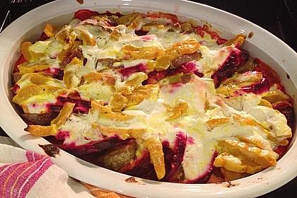 Svenjas Rote Bete-Süßkartoffel Gratin mit Ingwer 7