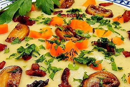 Mickys Kartoffelsuppe mit Champignons 2