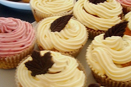 Cappuccino Cupcakes mit Cream - Cheese Frosting 29