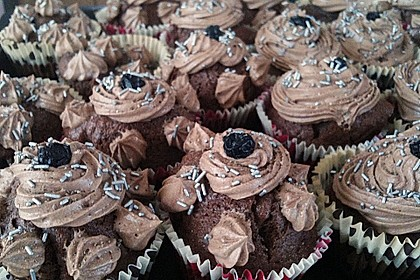 Cappuccino Cupcakes mit Cream - Cheese Frosting 6