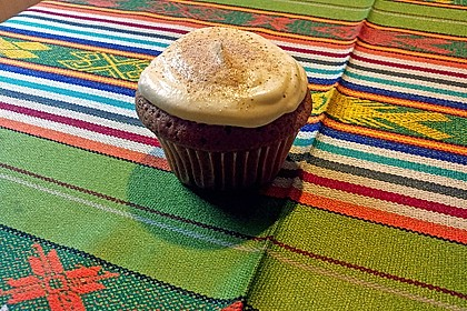 Cappuccino Cupcakes mit Cream - Cheese Frosting 18