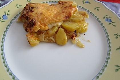 Kartoffelgratin mit Zwiebeln 2