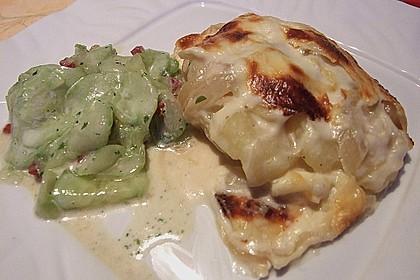 Kartoffelgratin mit Zwiebeln 4