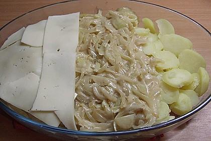Kartoffelgratin mit Zwiebeln 6