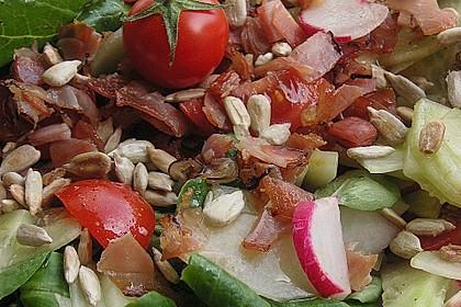 Gemischter Feldsalat mit Himbeeressig - Dressing 16
