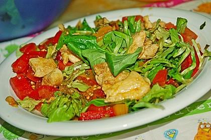 Gemischter Feldsalat mit Himbeeressig - Dressing 5