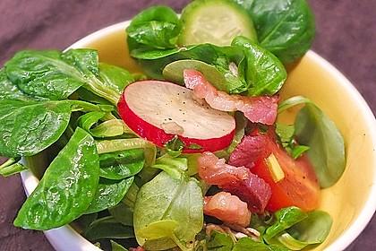 Gemischter Feldsalat mit Himbeeressig - Dressing 1