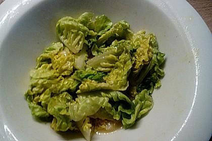 Gemischter Feldsalat mit Himbeeressig - Dressing 25