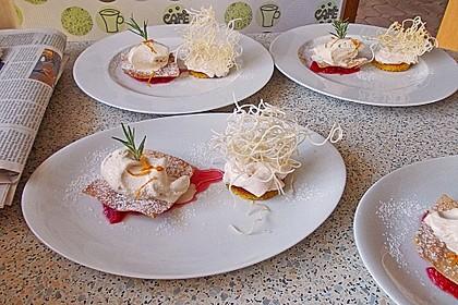 Tonka - Topfen - Mousse auf Blutorangenragout mit frittierten Karamell - Wan Tan 3