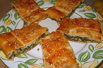 Blätterteigstrudel mit Spinat - Käsefüllung 2