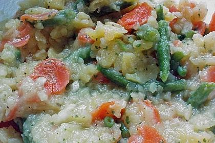 Kartoffelsalat mit Bohnen und Möhren 2