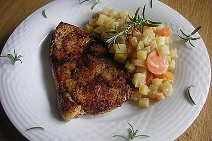 Kotelett auf Gemüsepfanne 1