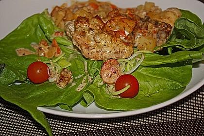Kotelett auf Gemüsepfanne 6