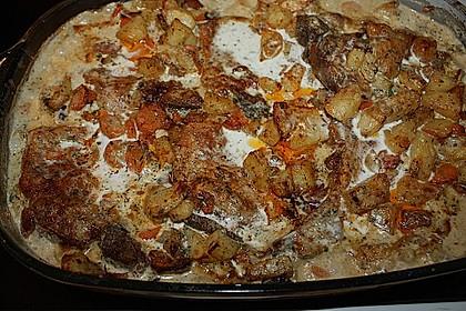 Kotelett auf Gemüsepfanne 3
