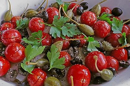 Seeteufel mit Tomaten, Kapern und Oliven 1