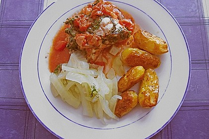 Seeteufel mit Tomaten, Kapern und Oliven 4