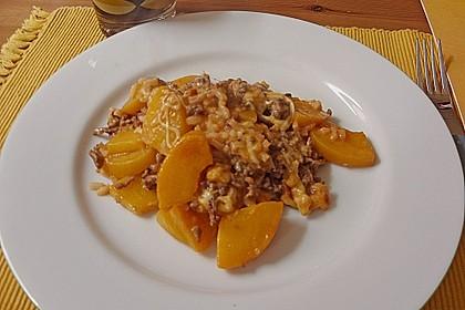 Pfirsich - Gehacktes - Auflauf 7