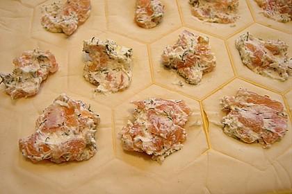 Blätterteigtaschen mit Lachs 13