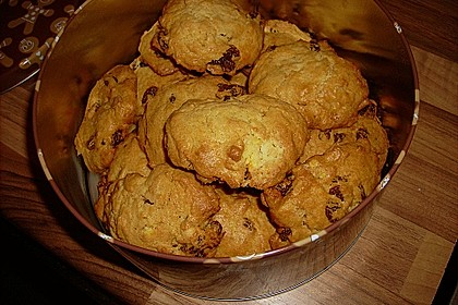 Vanillecookies mit Rosinen (Bild)